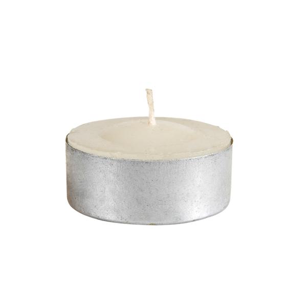 288 u. velas calientaplatos Ø3,5x1,5 cm blanco parafina (1 unid.)