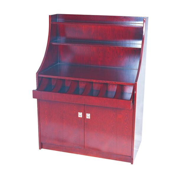 mueble para cubiertos y vajilla grande 100x55x141 cm marrÓn rojizo madera (1 unid.)