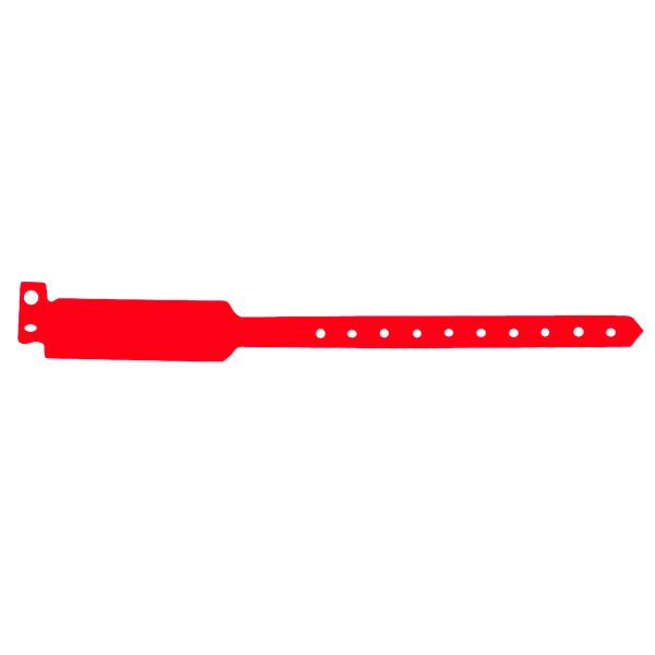 brazaletes no transferibles 25 cm rojo pvc (100 unid.)