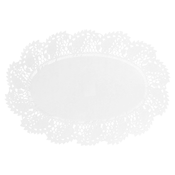 blondas ovales caladas 53 g/m2 32x22 cm blanco papel (250 unid.)
