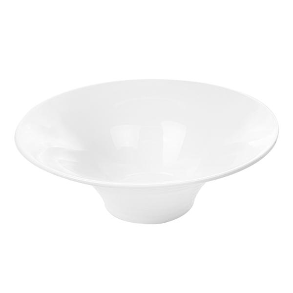 boles estriados 1250 ml Ø 25,5x8,9 cm blanco porcelana (2 unid.)