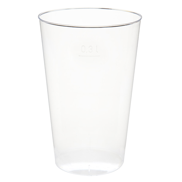 vasos inyectados 300 ml Ø 7,8x11,8 cm transparente ps (500 unid.)