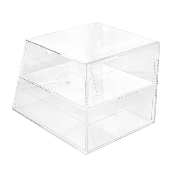 expositor pastelerÍa 2 pisos 26x35,5x25 cm transparente acrÍlico (1 unid.)