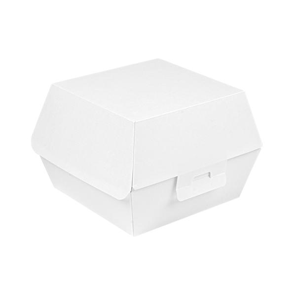 scatole hamburger 'thepack' 230 g/m2 14,4x13,6x9,2 cm (l+) bianco cartone ondulato a nano-micro (500 unitÀ)