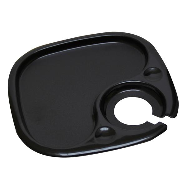 bandejas con porta-copas 20 cm negro ps (200 unid.)