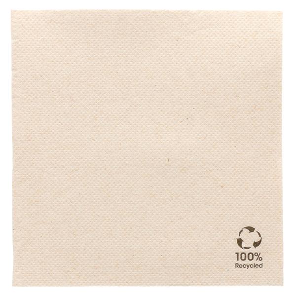 servilletas recicladas ecolabel 'double point' 19 g/m2 25x25 cm natural tissue reciclado (3000 unid.)