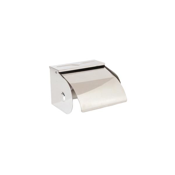 dispensador de papel higiÉnico domÉstico 12,5x10x9,5 cm plateado inox (1 unid.)