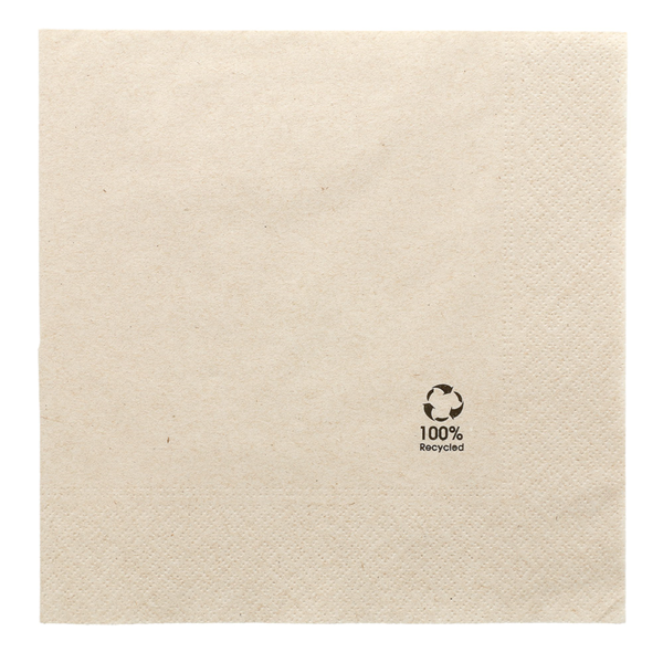 servilletas ecolabel 2 capas 18 g/m2 39x39 cm natural tissue reciclado (1600 unid.)