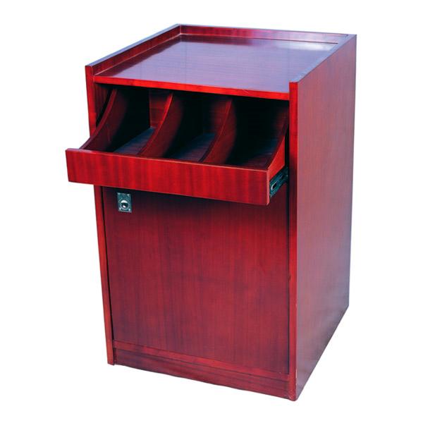mueble para cubiertos y vajilla simple 55x53,5x82 cm marrÓn rojizo madera (1 unid.)