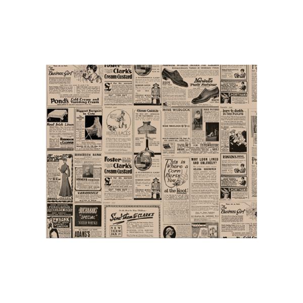 carta per hamburger 'times' 34 g/m2 28x34 cm naturale pergamana antigrassi (1000 unitÀ)
