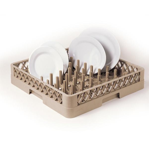 rack para platos o bandejas < 45 cm 50x50x10 cm beige pp (1 unid.)