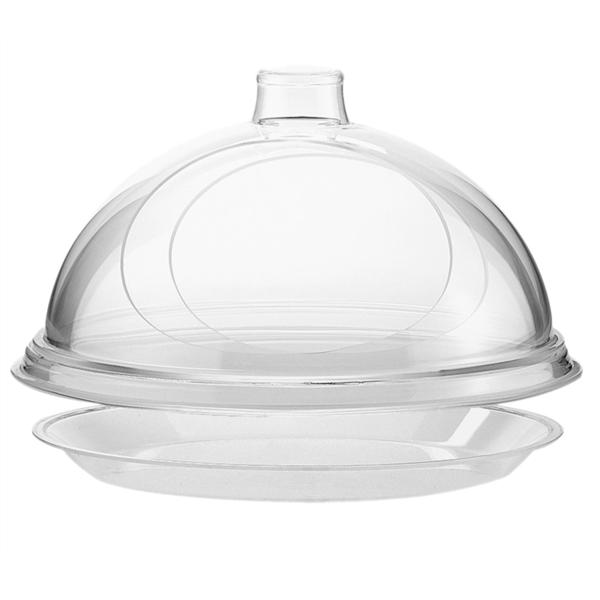 assette de base plate Ø 2,5 cm transparent acrylique (1 unitÉ)