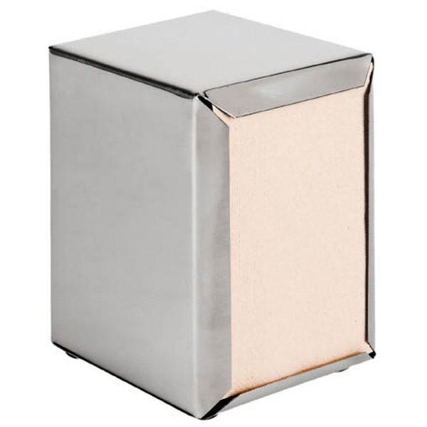 dispensador para servilletas mini servis 11x9x13,5 cm plateado inox (12 unid.)