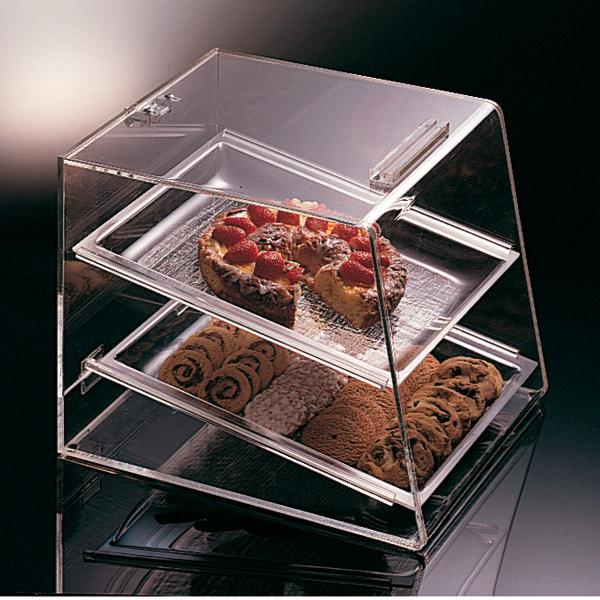 expositor pastelerÍa 2 pisos 35x42,5x44,5 cm transparente acrÍlico (1 unid.)