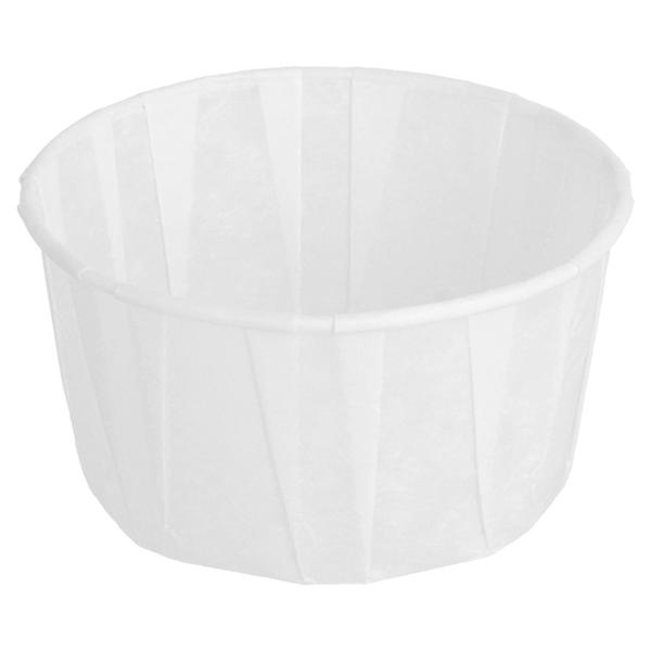 tarrinas papel plisado 120 ml Ø7,7x4,2 cm blanco perg. antigrasas (250 unid.)