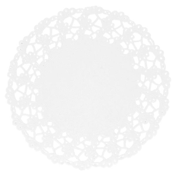 dentelles rondes ajourÉes 53 g/m2 Ø 11,5 cm blanc papier (250 unitÉ)