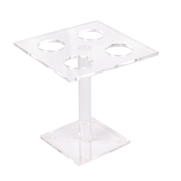 expositor para 4 conos pequeÑos 15x15x15 cm transparente acrÍlico (1 unid.)