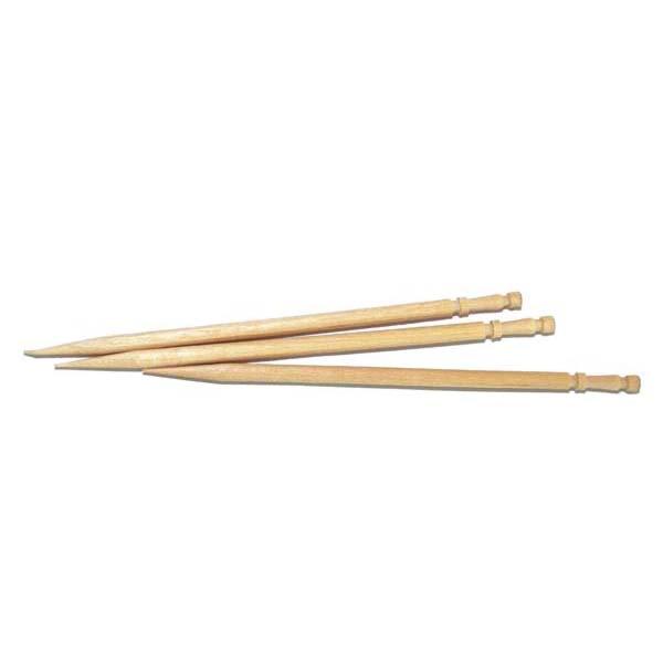 palillos torneados 1 punta 6,5 cm natural madera (1000 unid.)