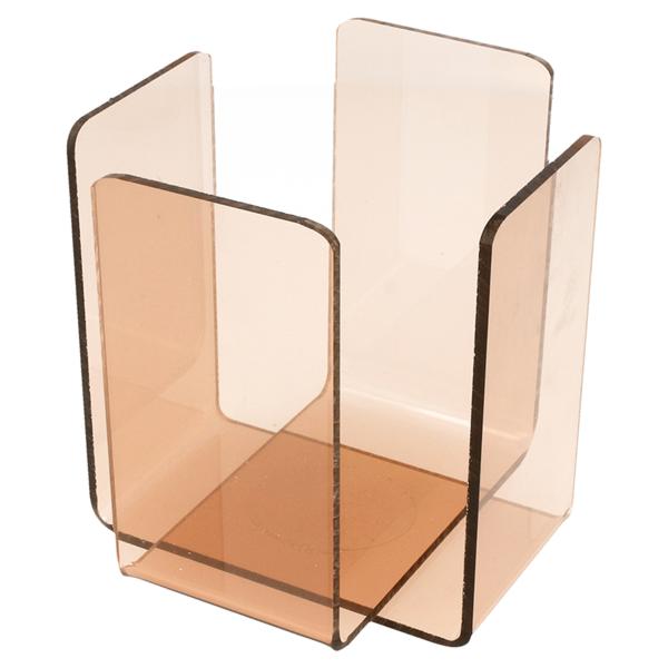 servilletero 11x11x10,8 cm rosa/ahumado metacrilato (2 unid.)