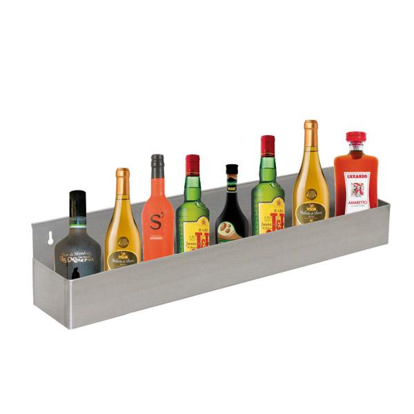 estanterÍa bar para 8 botellas 82x10x15 cm plateado inox (1 unid.)