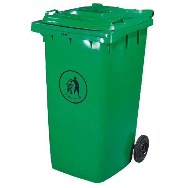 contenedor con tapa, 2 ruedas 240 l 101,5x59x74 cm verde pehd (1 unid.)