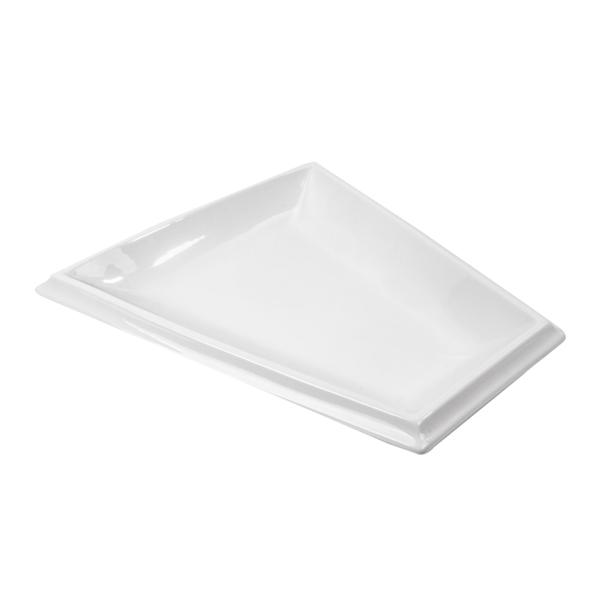 plato trapezoidal 43x39x4 cm blanco porcelana (6 unid.)