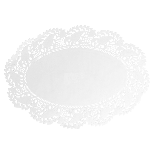 blondas ovales caladas 53 g/m2 27x18 cm blanco papel (250 unid.)