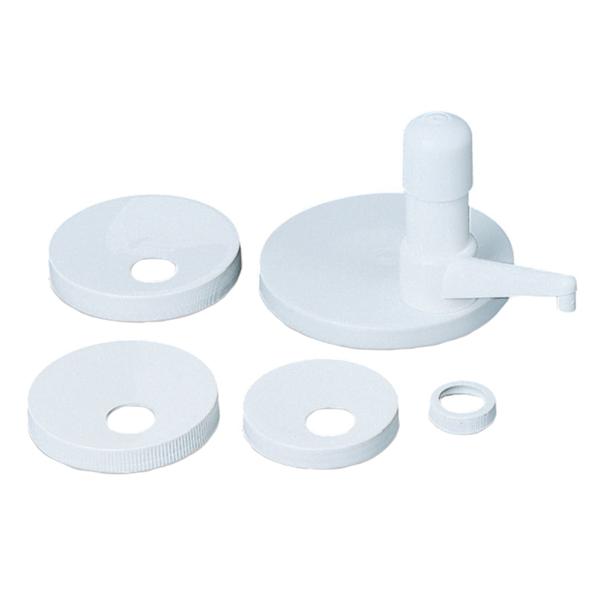 bombeador productos viscosos - kit 5 tapas 34,5 cm blanco plÁstico (1 unid.)