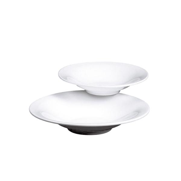 platos hondos Ø 28 cm blanco porcelana (12 unid.)