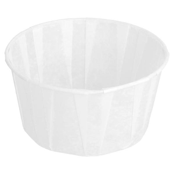 tarrinas papel plisado 165 ml Ø8x4,3 cm blanco perg. antigrasas (250 unid.)