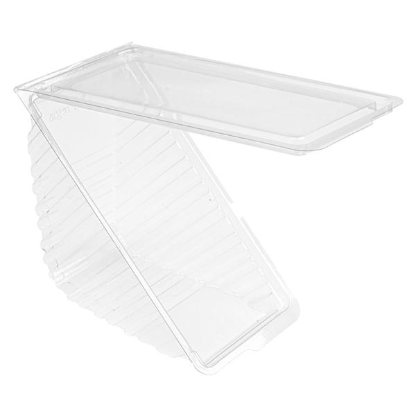 envases sÁndwiches triangulares triple 11x11x7,5 cm transparente rpet (500 unid.)