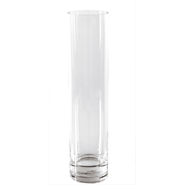 decoraciÓn gigante - cilindro Ø 10x40 cm transparente cristal (1 unid.)