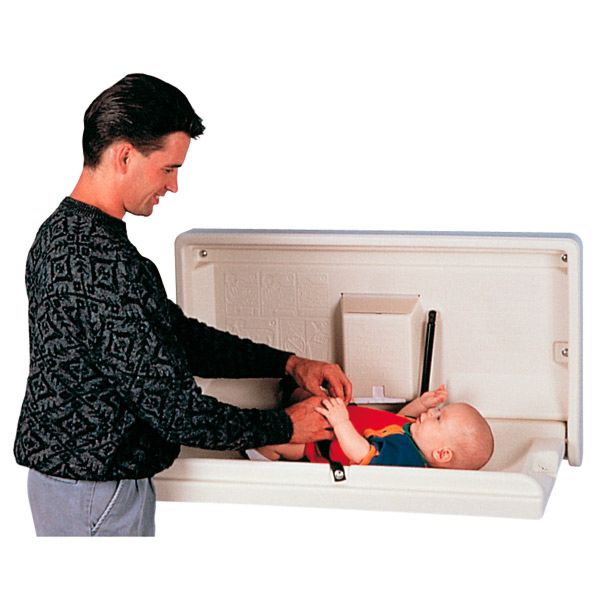 table changer couches enfants horizontal 39x84x44 cm ivoire plastique (1 unitÉ)