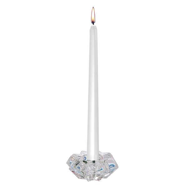 velas cÓnicas Ø 2,3x25 cm plateado cera (12 unid.)