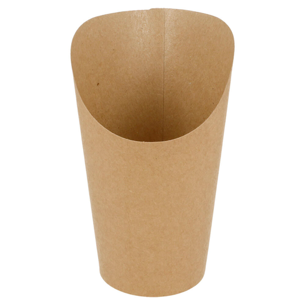 gobelets a frites ouverts 16 oz - 480 ml 200 + 25pe g/m2 Ø8,5x13,5 cm marron carton (50 unitÉ)