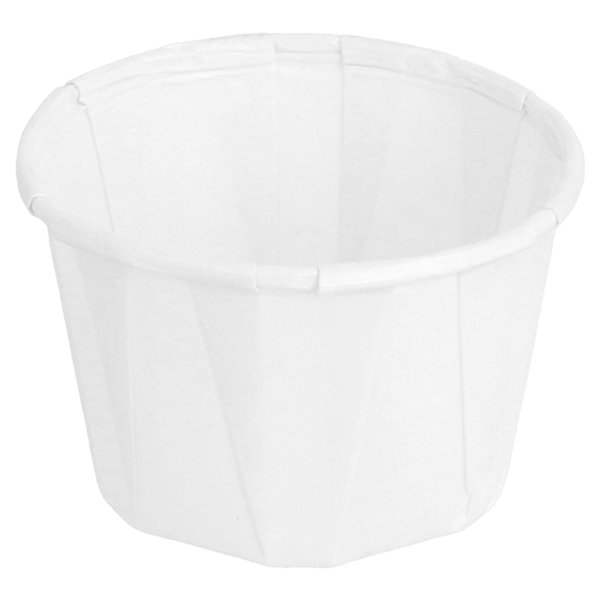 tarrinas papel plisado 37 ml Ø5x3,3 cm blanco perg. antigrasas (250 unid.)