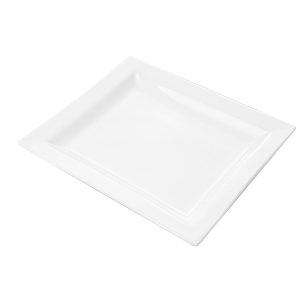 platos rectangulares 27x23,5 cm blanco porcelana (12 unid.)