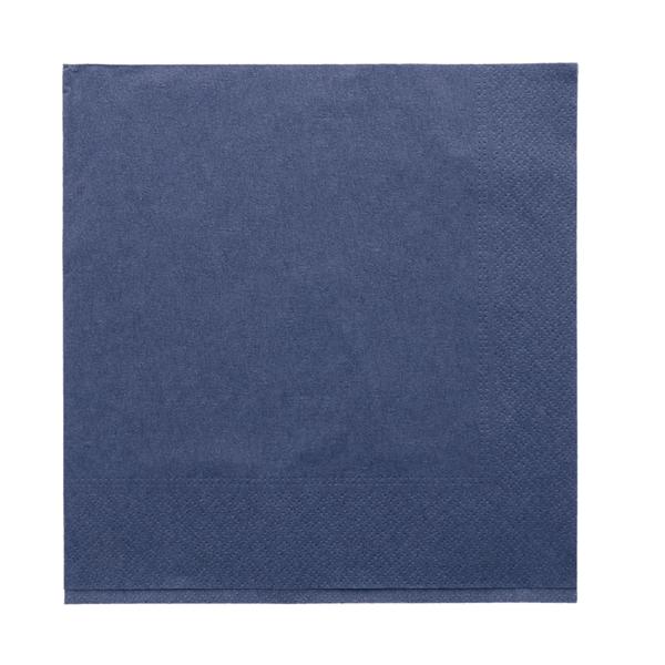 servilletas ecolabel 2 capas 18 g/m2 39x39 cm azul marino tissue (1600 unid.)