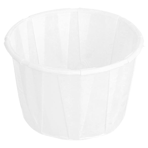 tarrinas papel plisado 60 ml Ø5,4x3,4 cm blanco perg. antigrasas (250 unid.)