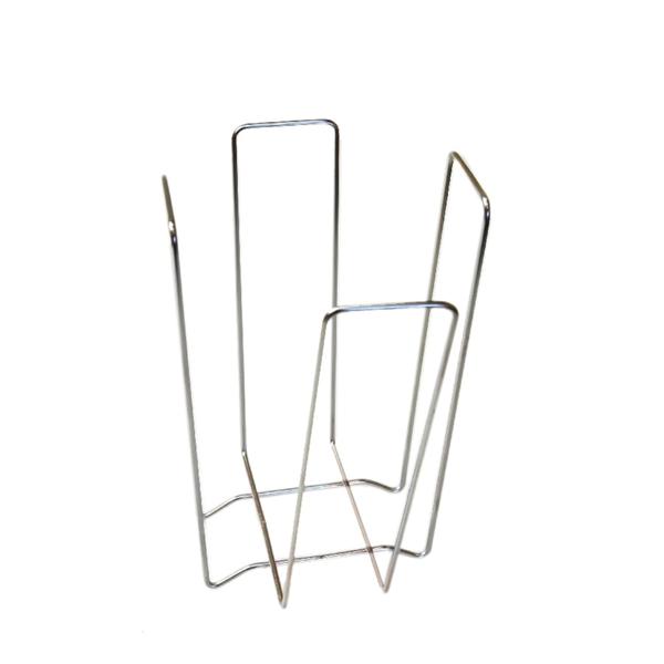 servilletero 18x18x19,4 cm plateado alambre (1 unid.)