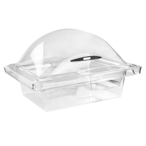 cÚpula con base 3 compartimentos 37x52x24 cm transparente acrÍlico (1 unid.)