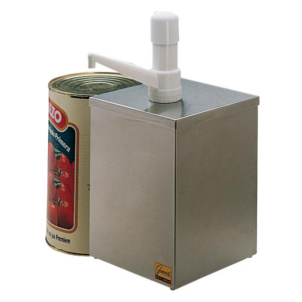 dispensador condimento 1 bomba 18,2x18,2x39 cm plateado inox (1 unid.)