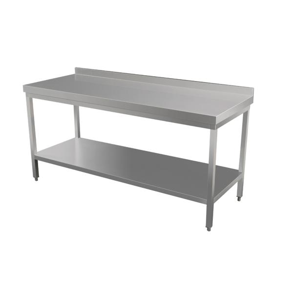 mesa trabajo con dosel 2 niveles 120x70x90 cm plateado inox (1 unid.)