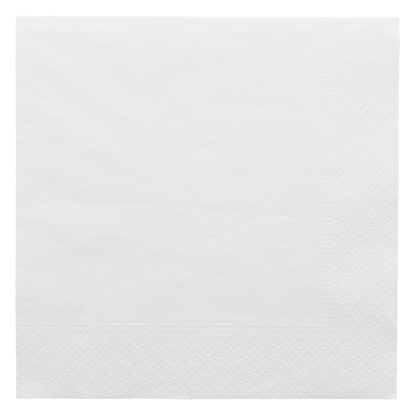 servilletas ecolabel 2 capas 18 g/m2 33x33 cm blanco tissue (2400 unid.)