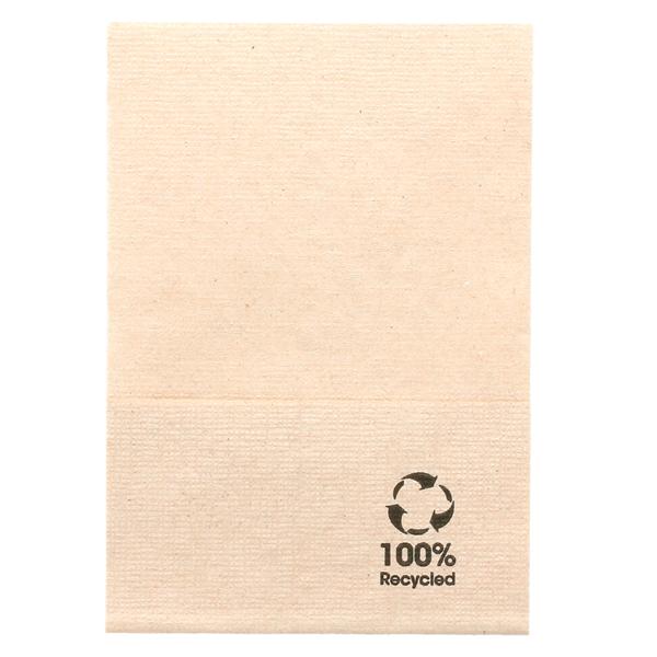 serviettes ecolabel 1 pli 'mini servis' 23 g/m2 17x17 cm naturel ouate recyclÉe (9600 unitÉ)