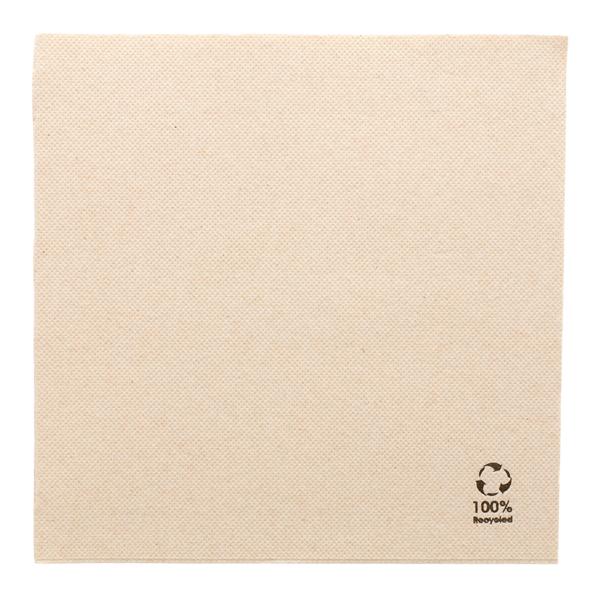 serviettes ecolabel 'double point' 19 g/m2 39x39 cm naturel ouate recyclÉe (1200 unitÉ)